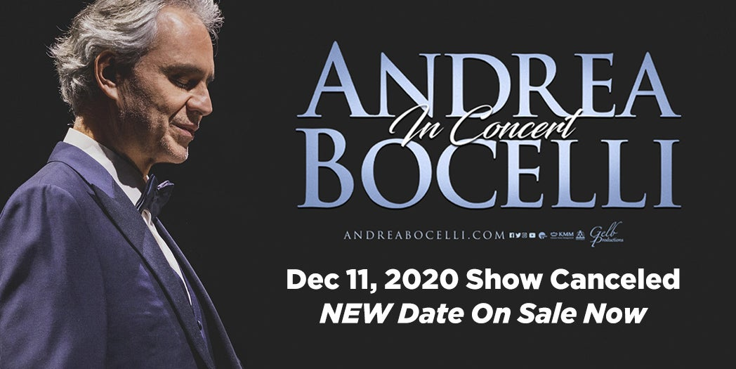 More Info for Andrea Bocelli - Canceled