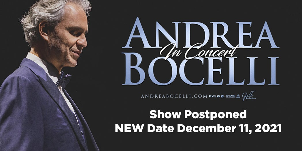 More Info for Andrea Bocelli - Rescheduled