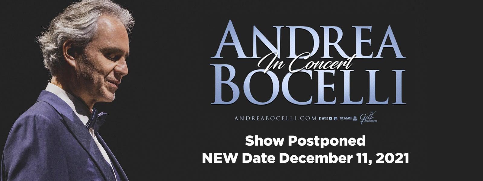 Andrea Bocelli - Rescheduled