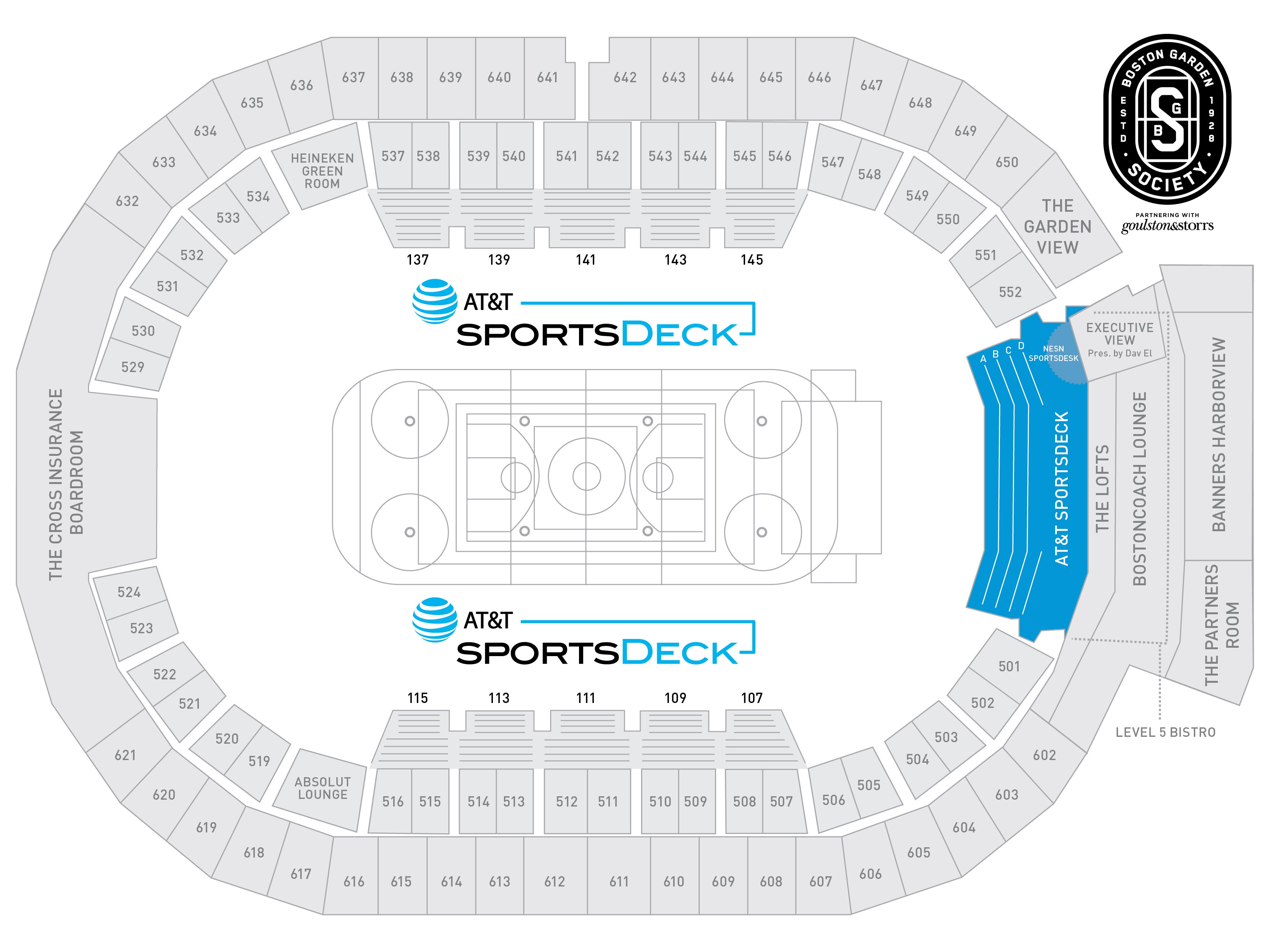 SportsDeck Seating Map