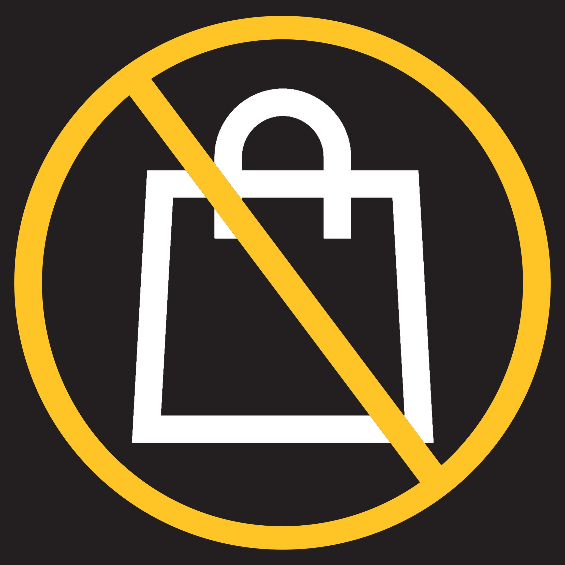 No bags allowed image