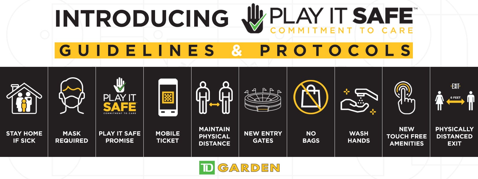 TD Garden Welcomes Return of Fans,  Announces New 'Play It Safe' Guidelines & Protocols