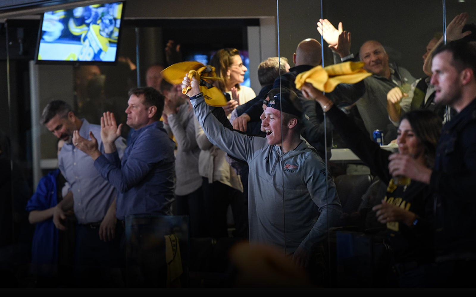 Image of Bruins fans in Society Suites
