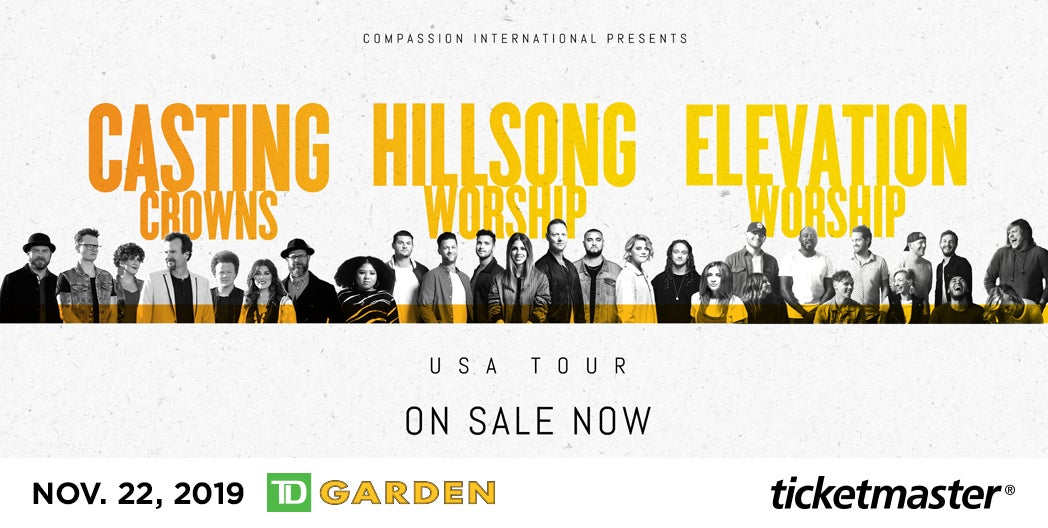 Casting Crowns Tour 2020.Hillsong Worship Casting Crowns Elevation Worship Td