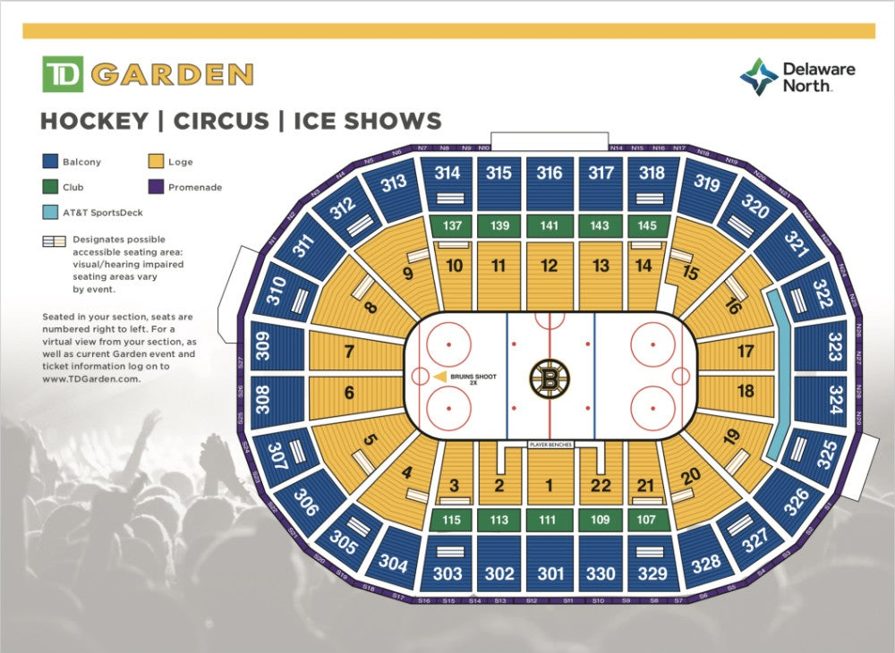 Seat finder td garden for Td garden seating chart with seat numbers