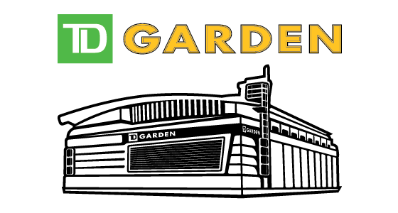 TD Garden Logo and Outlined Building