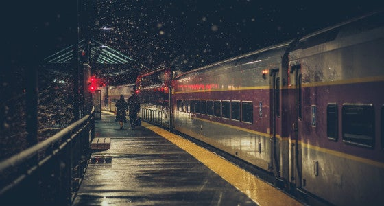 Image of the Boston commuter rail